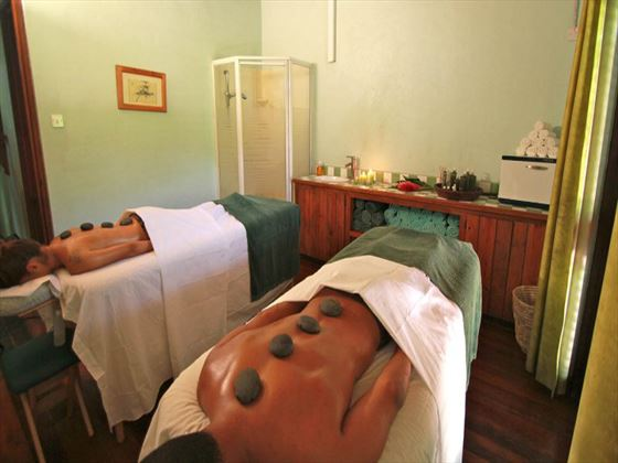 Couples spa treatment at Stonefield Estate Villa Resort