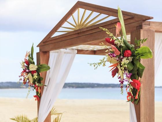 Beachfront wedding gazebo, Couples Swept Away