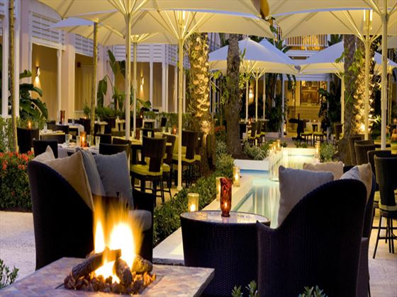 Courtyard terrace at One&Only Ocean Club