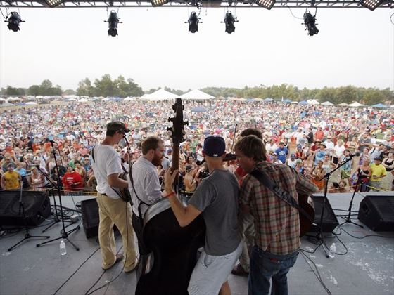Crowd at ROMP Fest, Kentucky