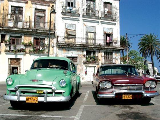 Cuba street cars in Havana