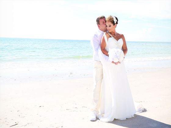 Stunning beach weddings at Clearwater