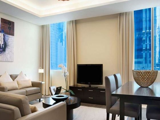 Deluxe living room at Kempinski Residence & Suite Doha