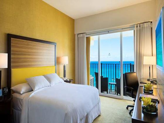 Deluxe Oceanview Room at Hilton Waikiki Beach