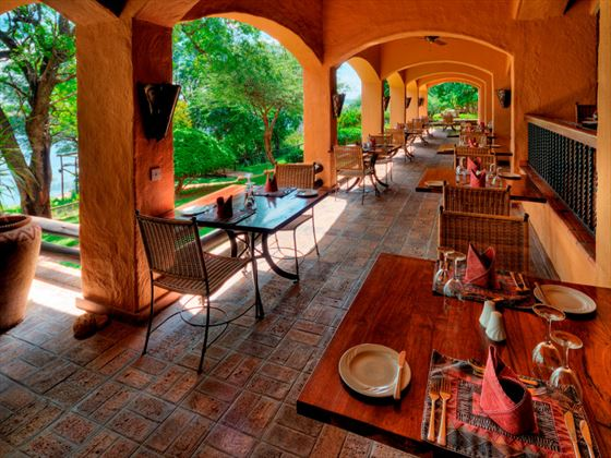 Dining area at Chobe Game Lodge