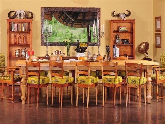 Dining at Jock Safari Lodge