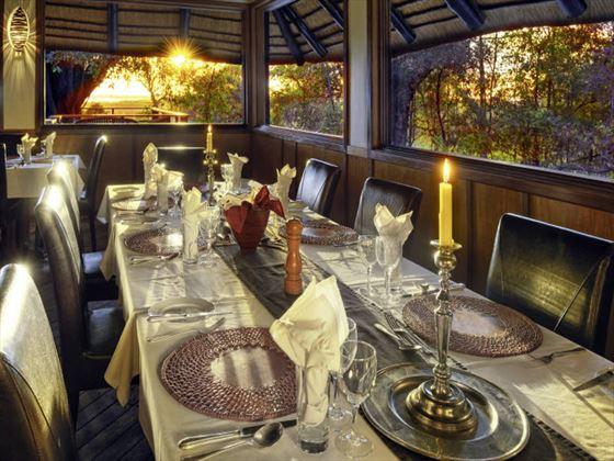 Dining at Camp Moremi