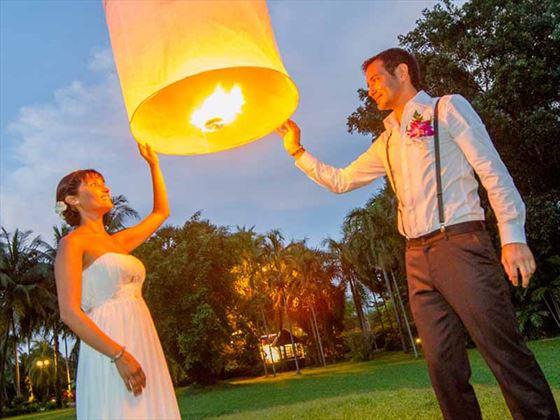 Thai lantern release