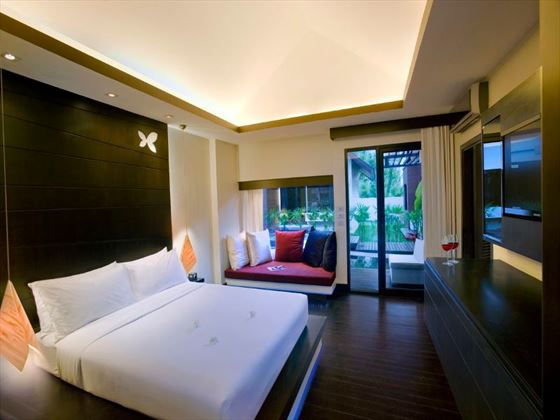 Double bedroom at Aava Resort and Spa