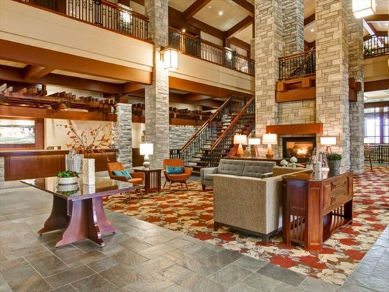 The lobby at Doubletree Fallsview Resort & Spa by Hilton
