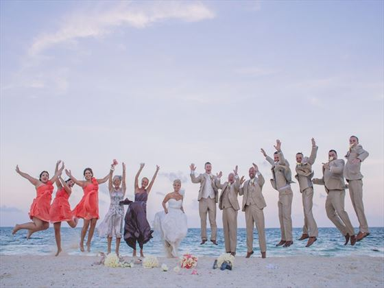 Wedding fun with family & friends at Dreams Riviera Cancun Resort