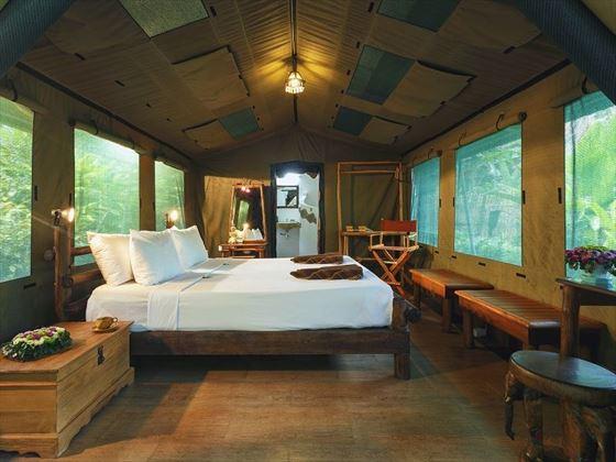Luxury Tent interior, Elephant Hills, Khao Sok
