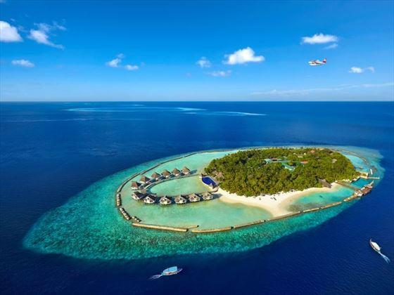 Aerial view of Ellaidhoo Maldives by Cinnamon