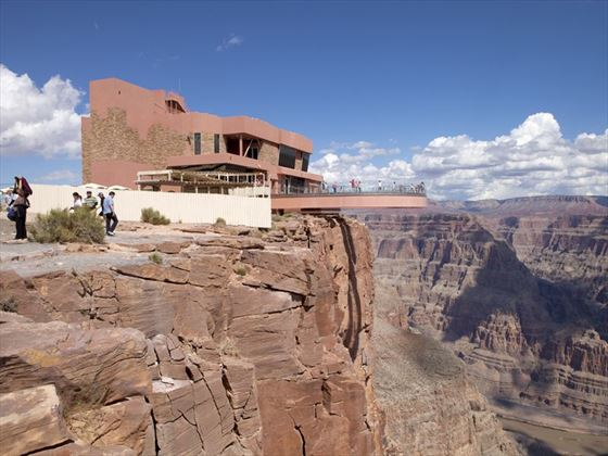 Enjoying views of the West Rim of the Grand Canyon from the Skywalk