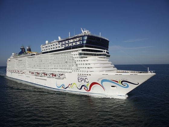 Norwegian Epic Aerial View