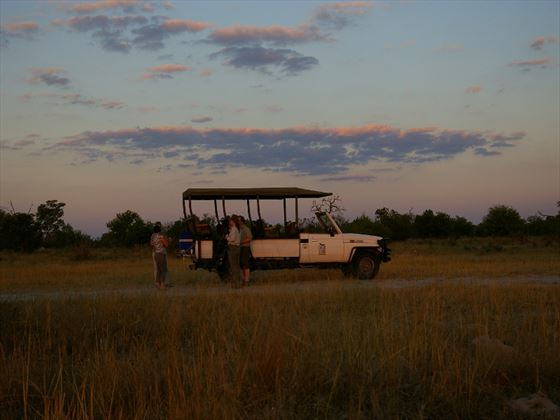 Evening game drive at Savute Safari Lodge