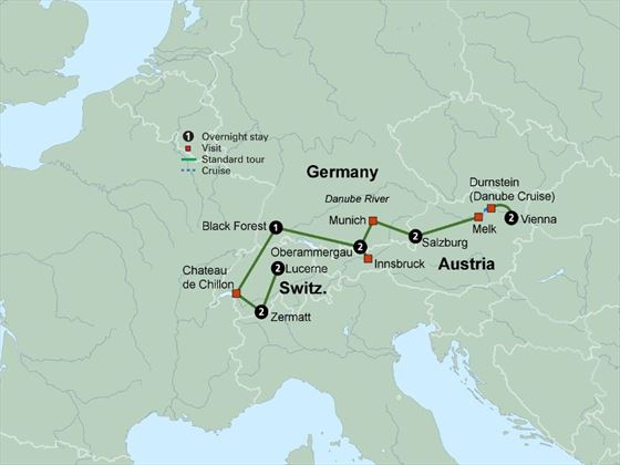 Exploring the Alpine Countries itinerary