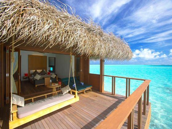 Exterior view of a Water Villa at Medhufusi Island Resort Hotel