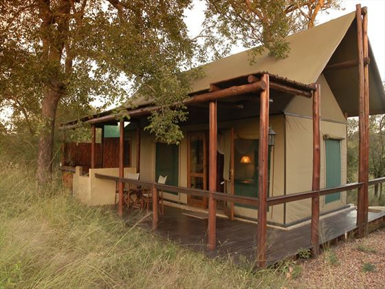 Exterior view of Chapungu Luxury Tented Camp