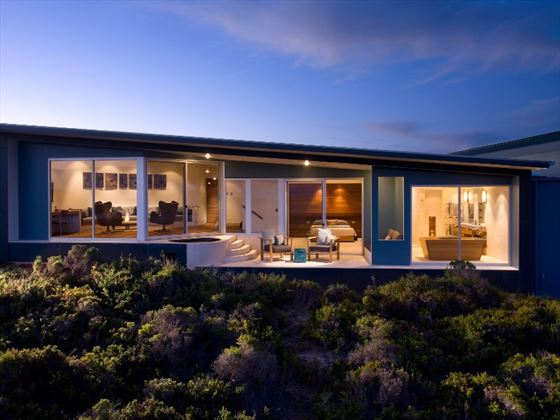 Exterior view of The Remarkable suite at Southern Ocean Lodge