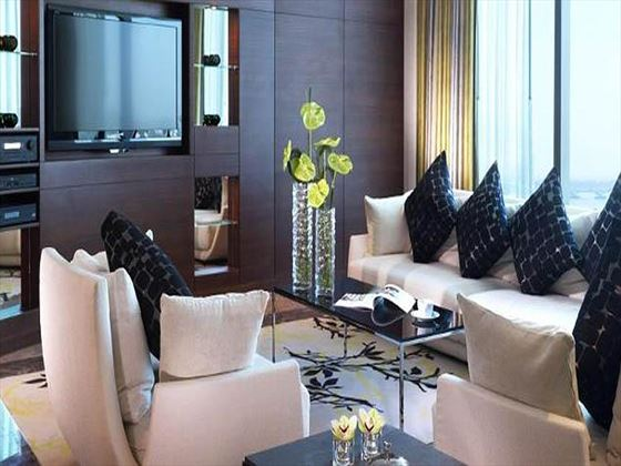 Fairmont Bab Al Bahar Presidential Suite living room