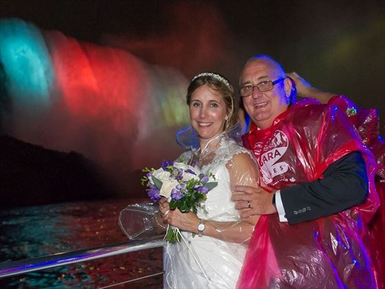 Bride & Groom, Niagara Falls cruise