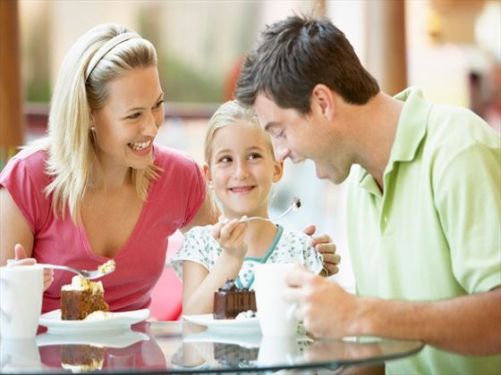 Spend time as a family enjoying a range of all-inclusive culinary options