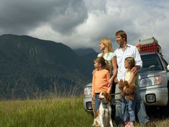 Family on a self-drive holiday
