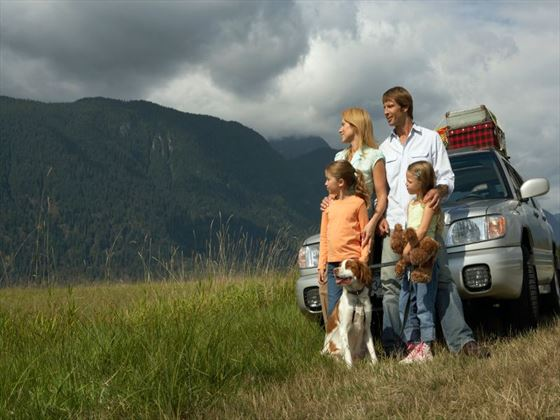 Family self-drive through Canada