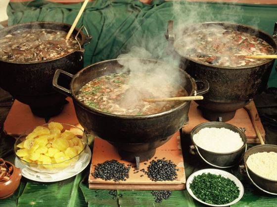 Traditional cuisine of feijoada
