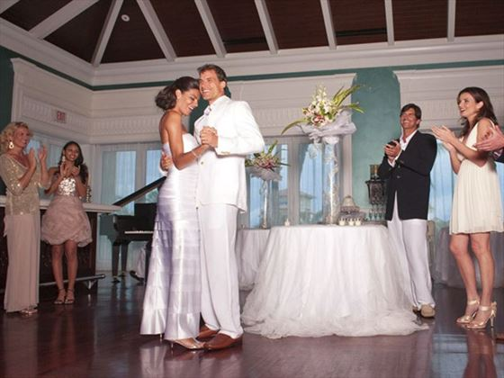 The happy couple's first dance