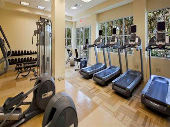 Fitness centre at Hilton Key Largo