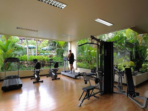 Fitness centre at Patong Merlin Hotel