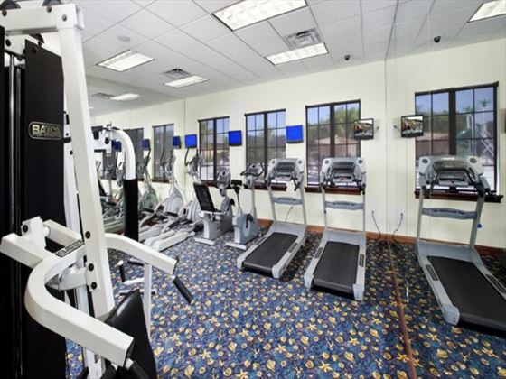 Fitness room at Paradise Palms Resort