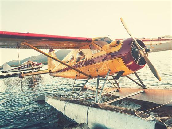 Float plane dock in Ketchikan, Alaska