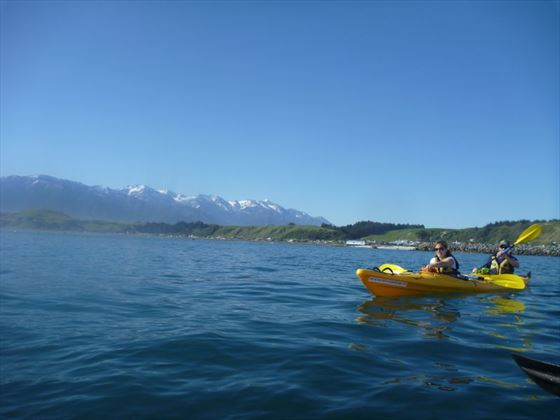 Go kayaking across crystal-clear lakes