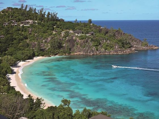 Four Seasons Resort Seychelles aerial view