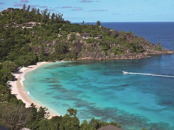 Four Seasons Resort Seychelles aerial view