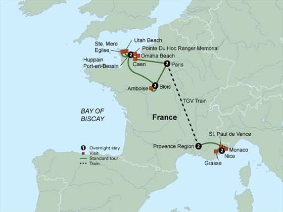 France Magnifique itinerary