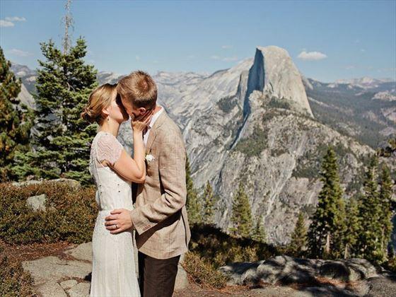 Glacier Point bride & Groom
