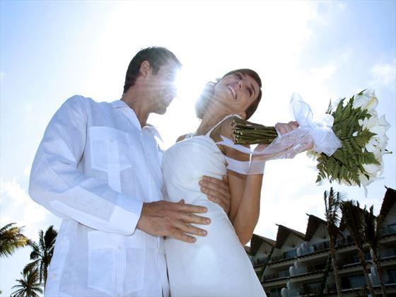Wedding couple at Grand Velas Riviera Maya