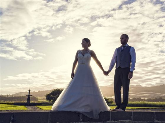 Weddings at sunset