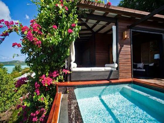 Hermitage Bay Hotel plunge pool