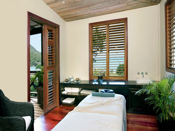 Hermitage Bay Hotel spa treatment room