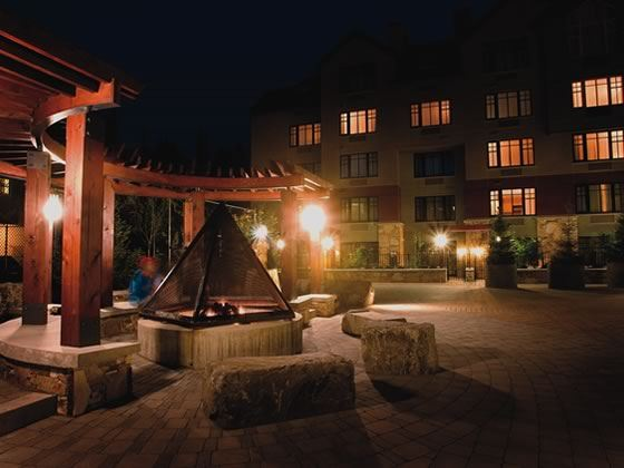 Courtyard and firepit