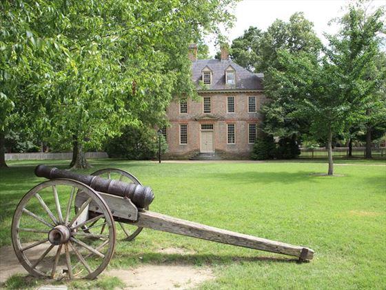 Historic university campus in Williamsburg