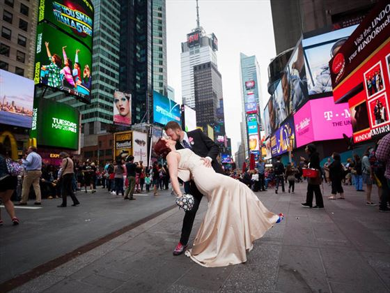 Just married, New York!