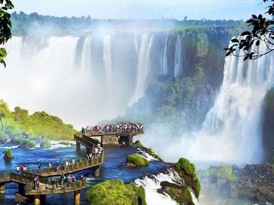 Iguazu Falls, along the border of Argentina & Brazil