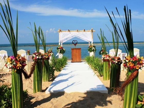 Decorated wedding setting