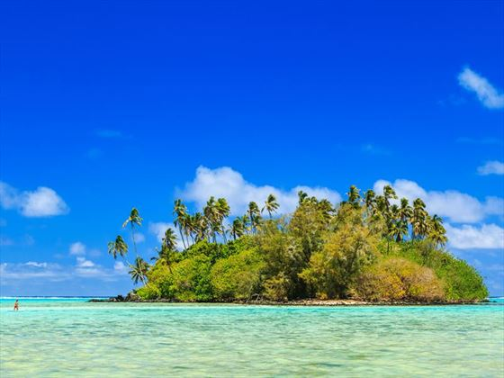 Island in the Muri Lagoon, Rarotonga, Cook Islands